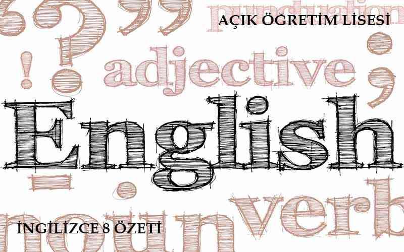 AÖL İngilizce 8 Ders Özeti