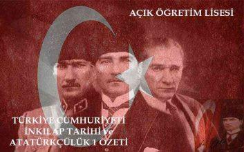 AÖL Atatürk İlkeleri ve İnkılap Tarihi 1 Kitabı