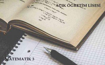 AÖL Matematik 3 Dersi