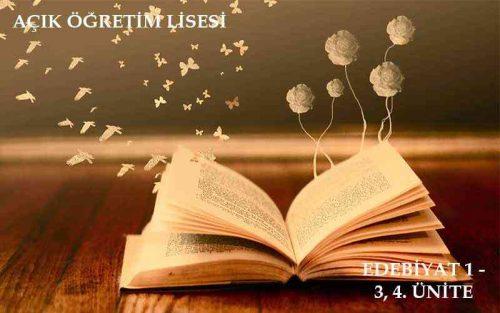 AÖL Türk Dili ve Edebiyatı - 3 ve 4 . Ünite