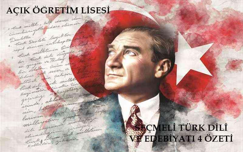 AÖL Seçmeli Türk Dili ve Edebiyatı 4 Kitabı
