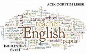 AÖL İngilizce 1 Dersi