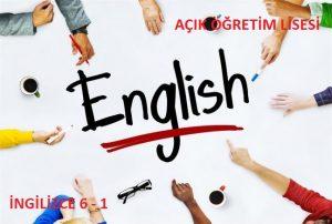 AÖL İngilizce 6 Dersi