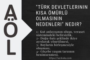 Türk devletlerinin kısa ömürlü olmasının nedenleri nedir