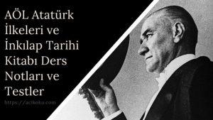 Açık Öğretim Lisesi Atatürk İlkeleri ve İnkılap Tarihi Kitabı Ders Notları ve Testler