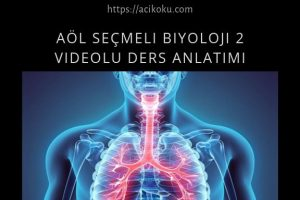 AÖL Seçmeli Biyoloji 2 Kitabı Videolu Ders Anlatımı