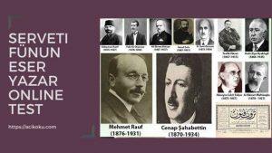 Serveti Fünun Edebiyatı Özellikleri Sanatçıları Temsilcileri
