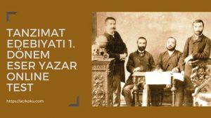 Tanzimat Edebiyatı Yazarları Şairleri Sanatçıları Eserleri