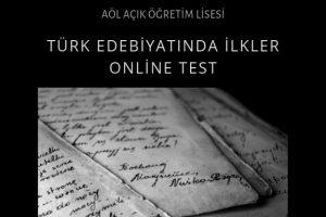 türk edebiyatında ilkler online test
