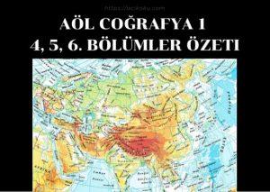 AÖL Coğrafya 1 Ders Kitabı Özeti