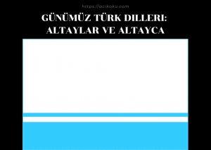 Altaylar ve Altayca