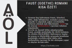 Faust (Goethe) Romanı Kısa Özeti
