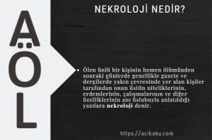 Nekroloji ne demek