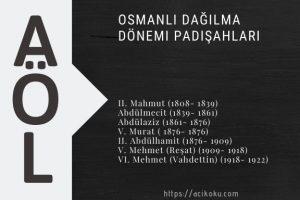 Osmanlı Dağılma Dönemi Padişahları