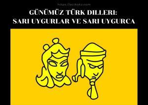 Sarı Uygurlar ve Sarı Uygurca