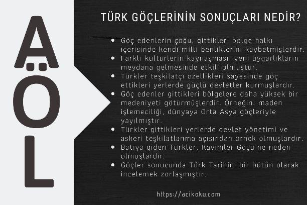 Türk Göçlerinin Sonuçları