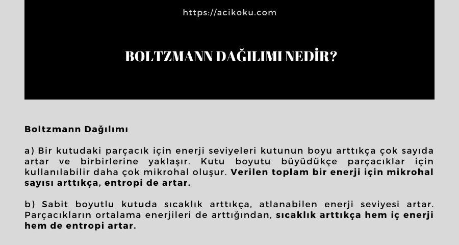 Boltzmann Dağılımı Nedir?