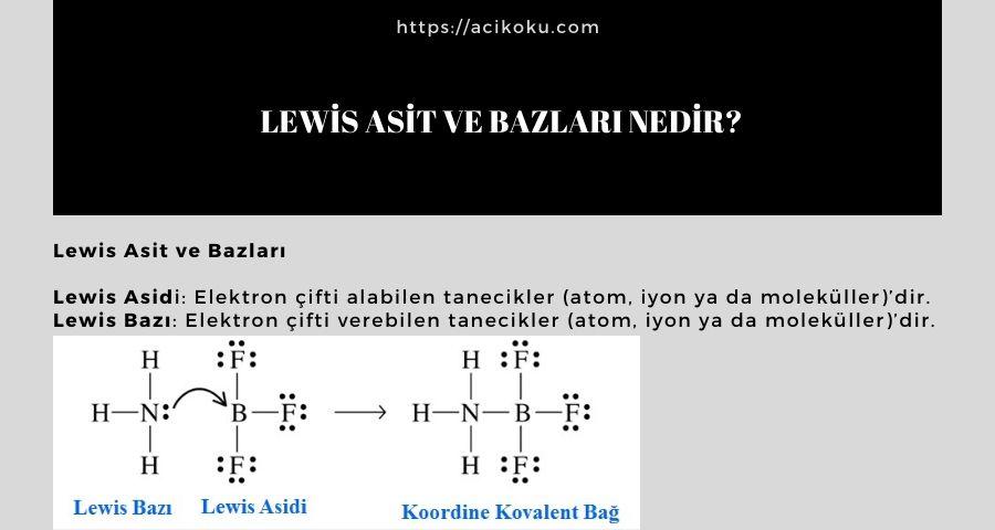 Lewis Asit ve Bazları Nedir?