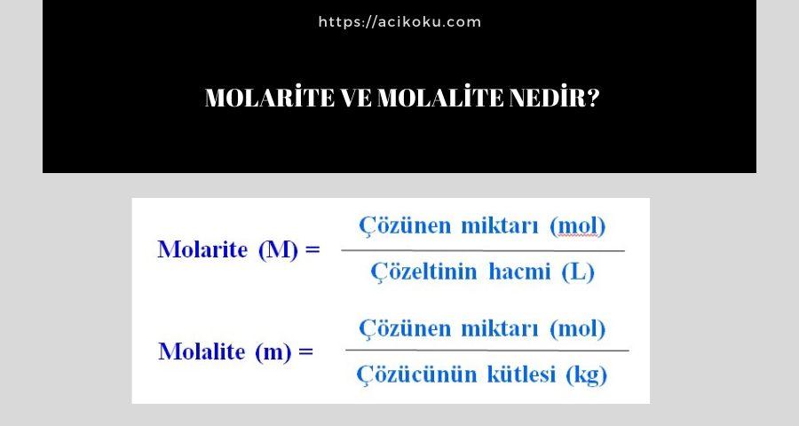 Molarite ve Molalite Nedir?