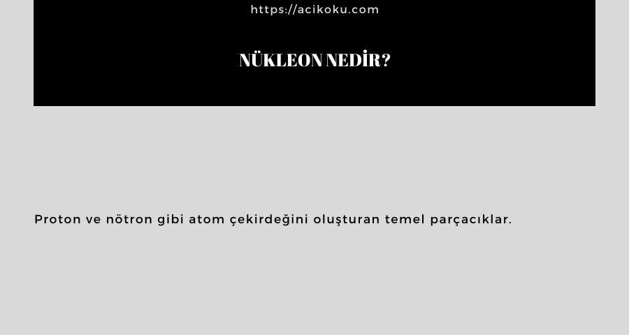 Nükleon nedir?