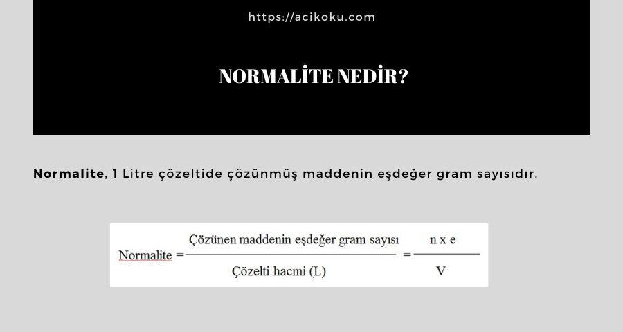 Normalite nedir?