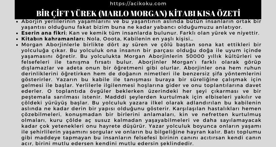 Bir Çift Yürek (Marlo Morgan) Kitabı Kısa Özeti